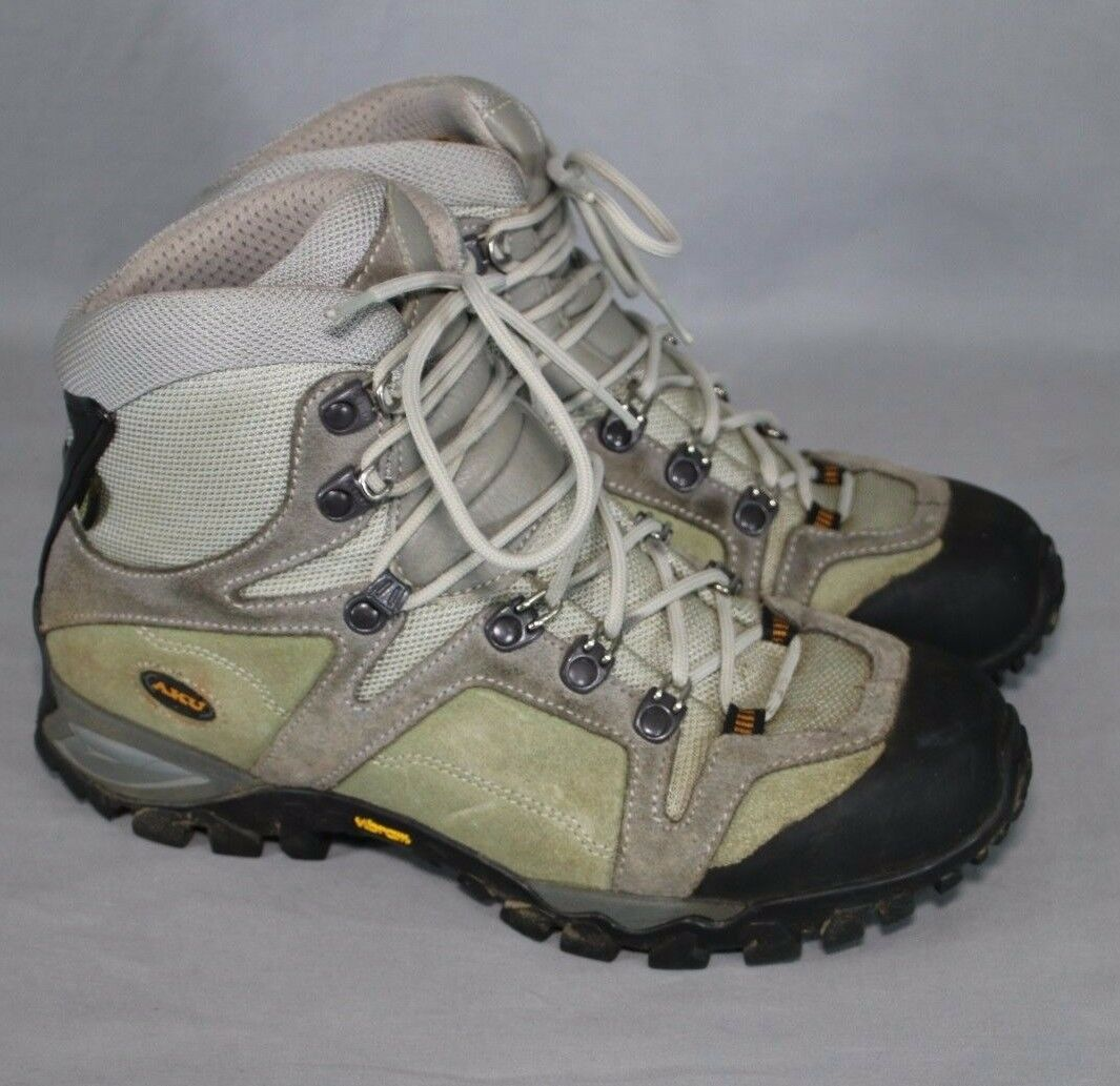 Aku Gore-Tex Hiking Stiefel Waterproof Lace Up Vibram Soles Gray Unisex Mens 6