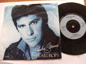 SHAKIN-STEVENS-1984-TEARDROPS-45rpm-7ins-VINYL-JUKEBOX-RECORD