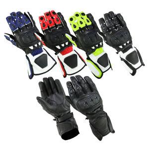 Neon-Jaune-cuir-moto-Moto-Gants-Moto-Gants-cuir-taille-S-3XL