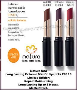 Natura Una Long Lasting SPF 15 Extreme Matific Lipsticks