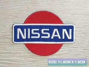 Nissan Car Motor logo Badge Embroidered Iron On/Sew On Patch