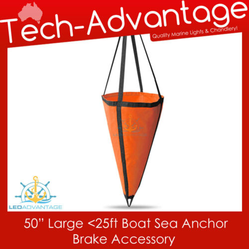 LARGE BOAT YACHT SEA ANCHOR BRAKE DROGUE - SUITS UP TO 25FT - 1.25M x 1.25M