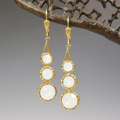 White Opal La Vie Parisienne Gold Plated Round Necklace Crystal