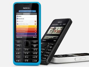 Nokia Asha 301-Bleu (Débloqué) Téléphone portable