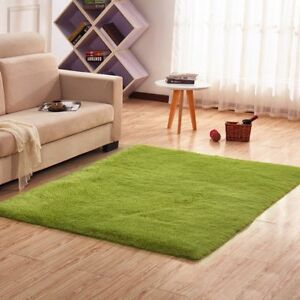 Details About Fluffy Rug Anti Skid Ultra Soft Shaggy Floor Mat Dining Room  Home Bedroom Carpet