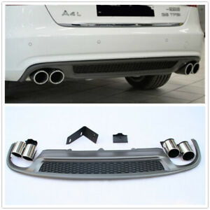 S-Line-S4-Style-Rear-Diffuser-amp-Exhaust-Tip-For-2013-16-Audi-A4-B8-5-Sedan-MA