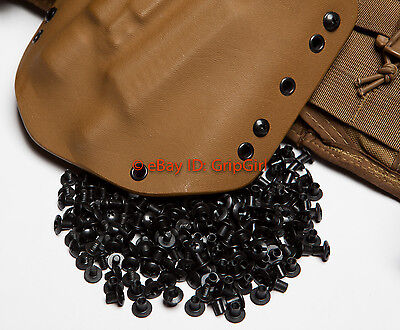 Set of 10x BLACK Chicago Screws//Slotted Posts Custom Concealment Kydex Holsters