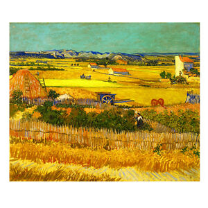Canvas-Print-Picture-Wall-Art-Van-Gogh-Painting-Repro-Home-Decor-Harvest-Framed