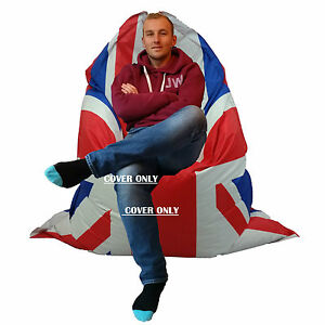 Large-Bean-Bag-Giant-in-Outdoor-Beanbag-XXXL-Union-jack-Waterproof-COVER-ONLY