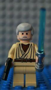 Lego-Star-Wars-Obi-Wan-Kenobi-Rare-Black-Eyes-Millennium-Falcon-10179-Minifigure