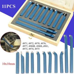 11pcs-10mm-Lathe-tools-knife-Alloy-welding-tools-Set-Bits-for-Lathe-machine-US