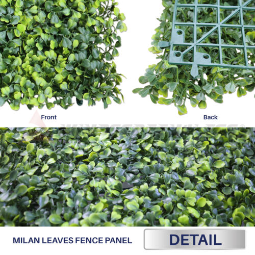 """Artificial Faux Boxwood Milan Leaves Leaf Decorative Fence Screen 20/'/' x 20/"""""""