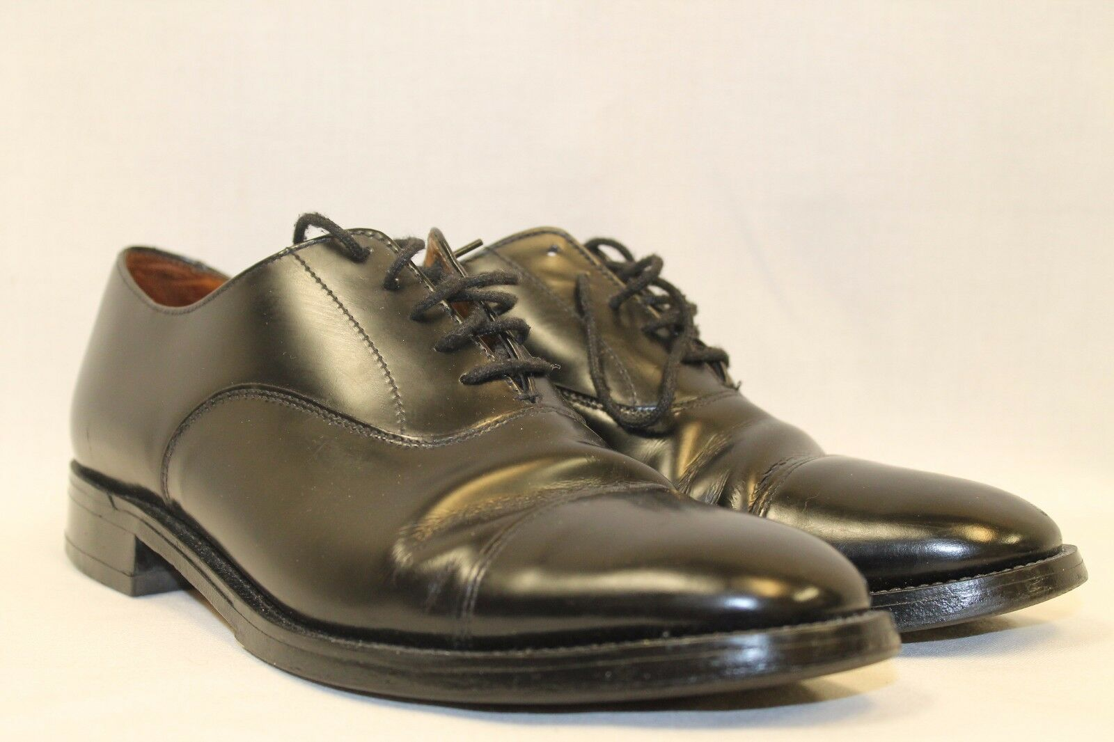 CHARLES HORRELL schwarz LEATHER OXFORDS US 8.5 M BENCH MADE ENGLAND