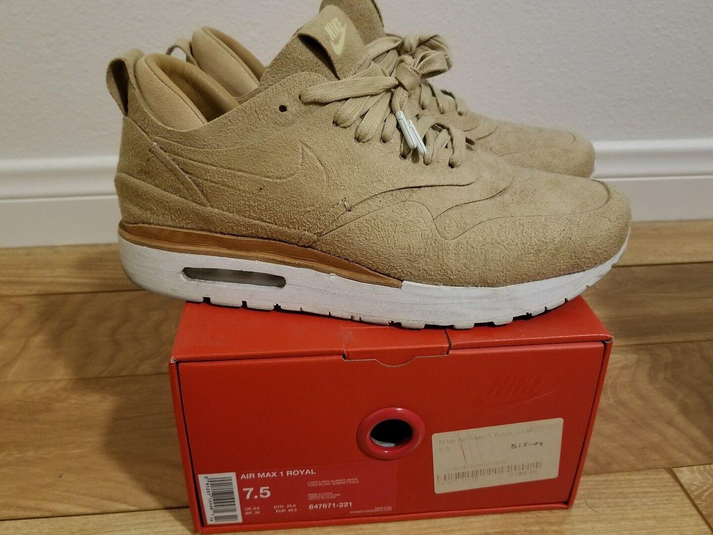 Nike air max 1 royal lino al 100% authenic ci 847671-221 sz