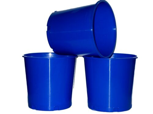 6 Blue Offering Buckets Ice Buckets Holds 176 Ounces Mfg USA Lead Free