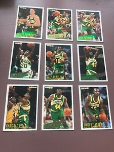1994-95-Fleer-Basketball-Team-Set-Seattle-Supersonics