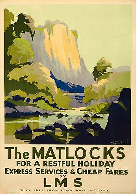 Vintage British Rail Derbyshire Railway Poster A3//A4 Print