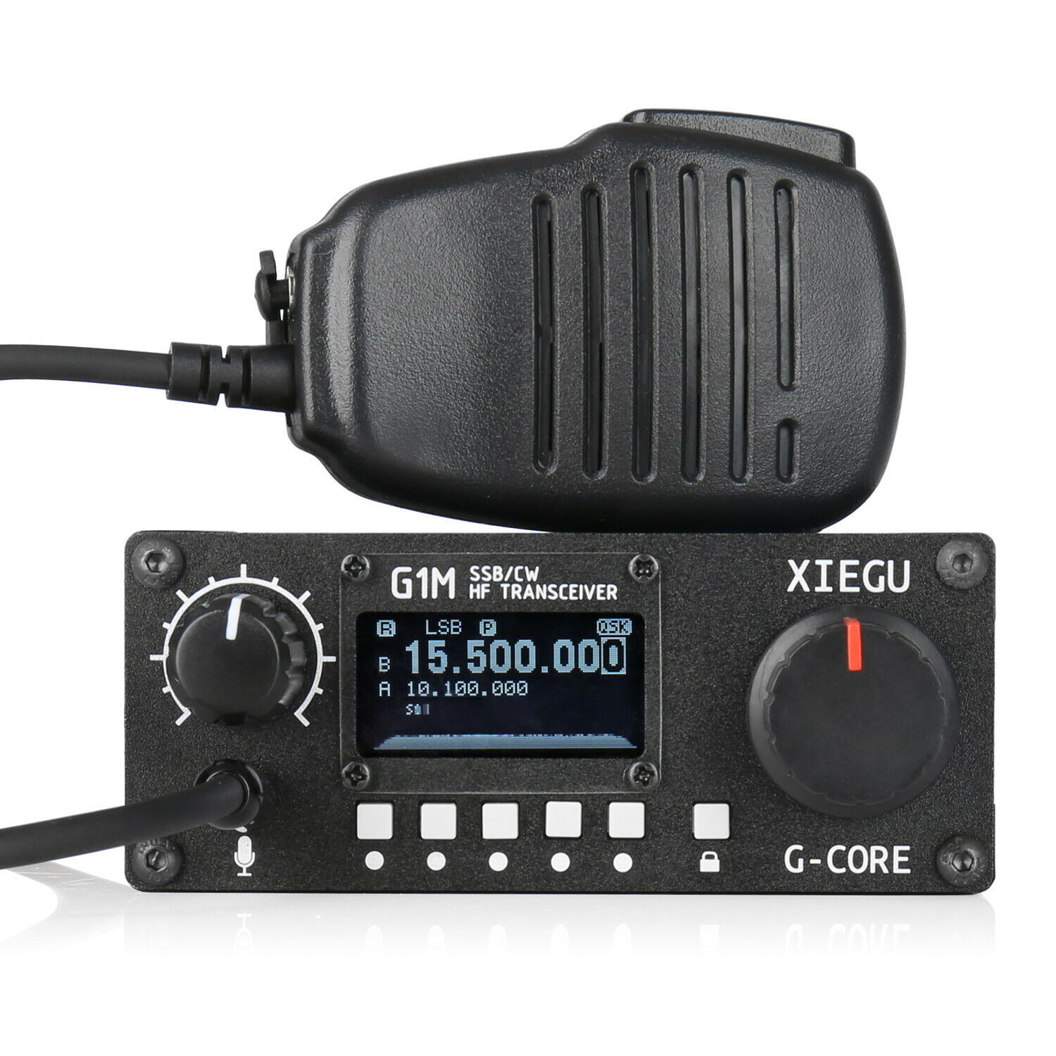 Details about XIEGU G1M Quad Band HF Transceiver QRP ShortWave 5W SSB CW  (0 5-30) Mobile Radio