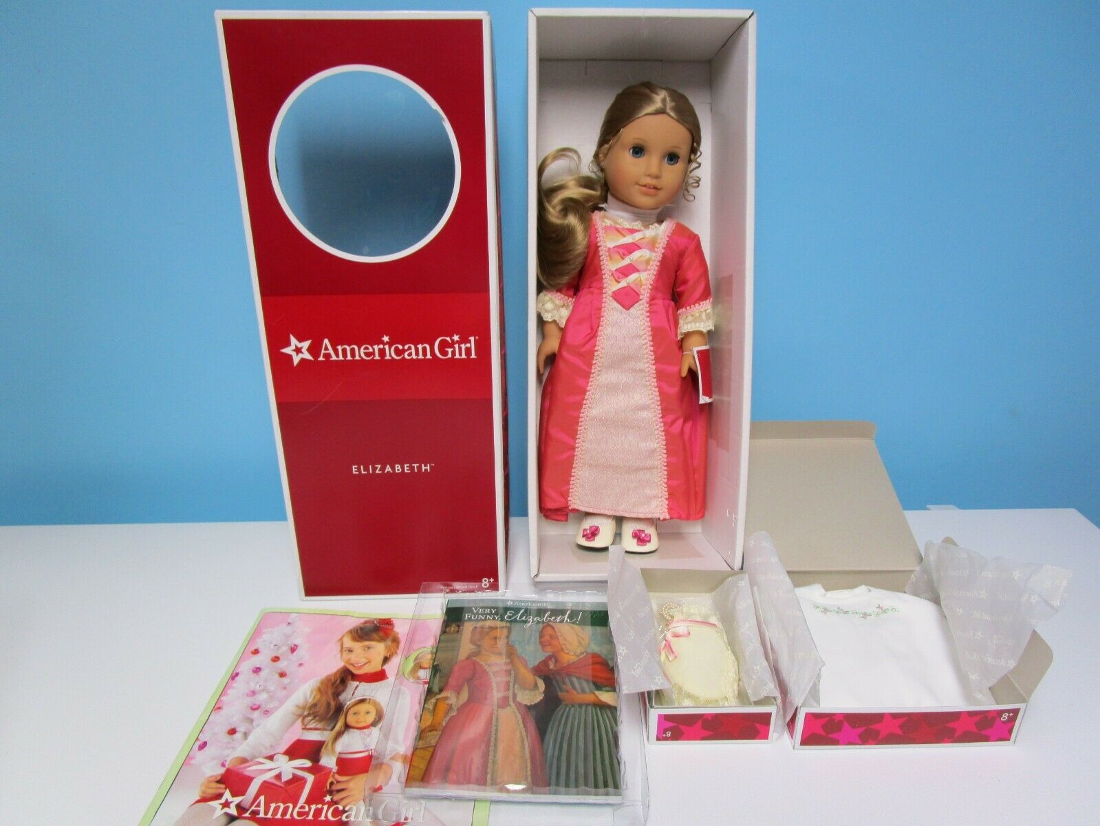 Retirot American Girl 18  Elizabeth Doll NRFB + Extras