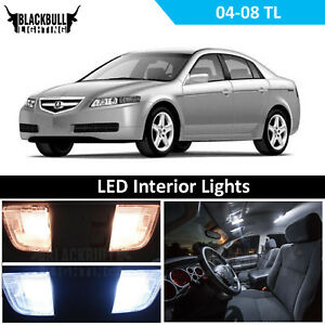 Details About White Interior Led Light Replacement Package Kit For 2004 2008 Acura Tl 13 Bulb