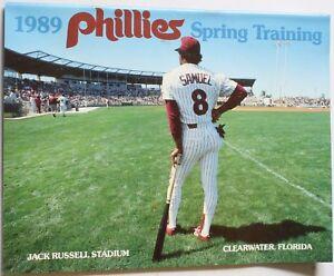 1989-Philadelphia-Phillies-Spring-Training-Program-Juan-Samuel-Cover-Schmidt