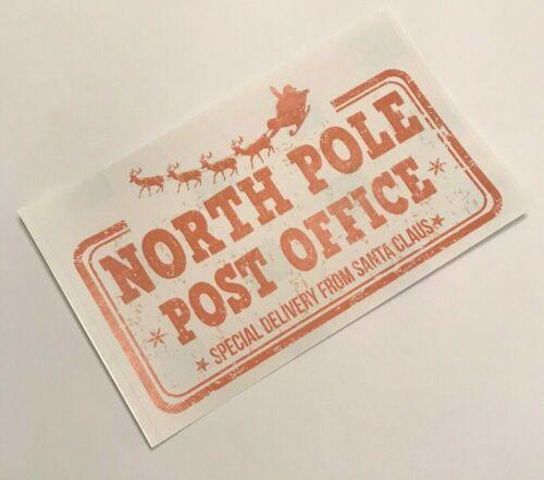 2 x Grand Pôle Nord Post Office Autocollants-Livraison spéciale de Santa Claus!