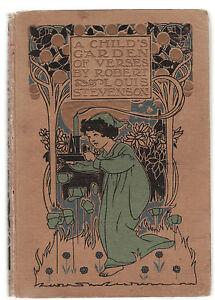 ROBERT-LOUIS-STEVENSON-A-CHILD-039-S-GARDEN-OF-VERSES-illustrated-1908-edition
