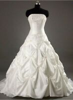 New Stock White Wedding Dress Bridal Gown Size:6/8/10/12/14/16