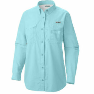 Women/'s Size 2X Columbia PFG Omni Shade Long Sleeve Shirt Pink