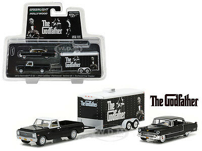 tráiler el padrino 1:64 GreenLight 31030 Chevrolet c-10 Cadillac Fleetwood