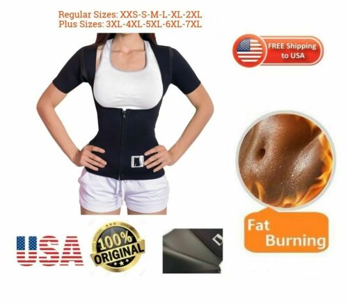 PLUS SIZES BODY SPA sauna Vest with Sleeves Weight Loss  100/% USA Neoprene Woman