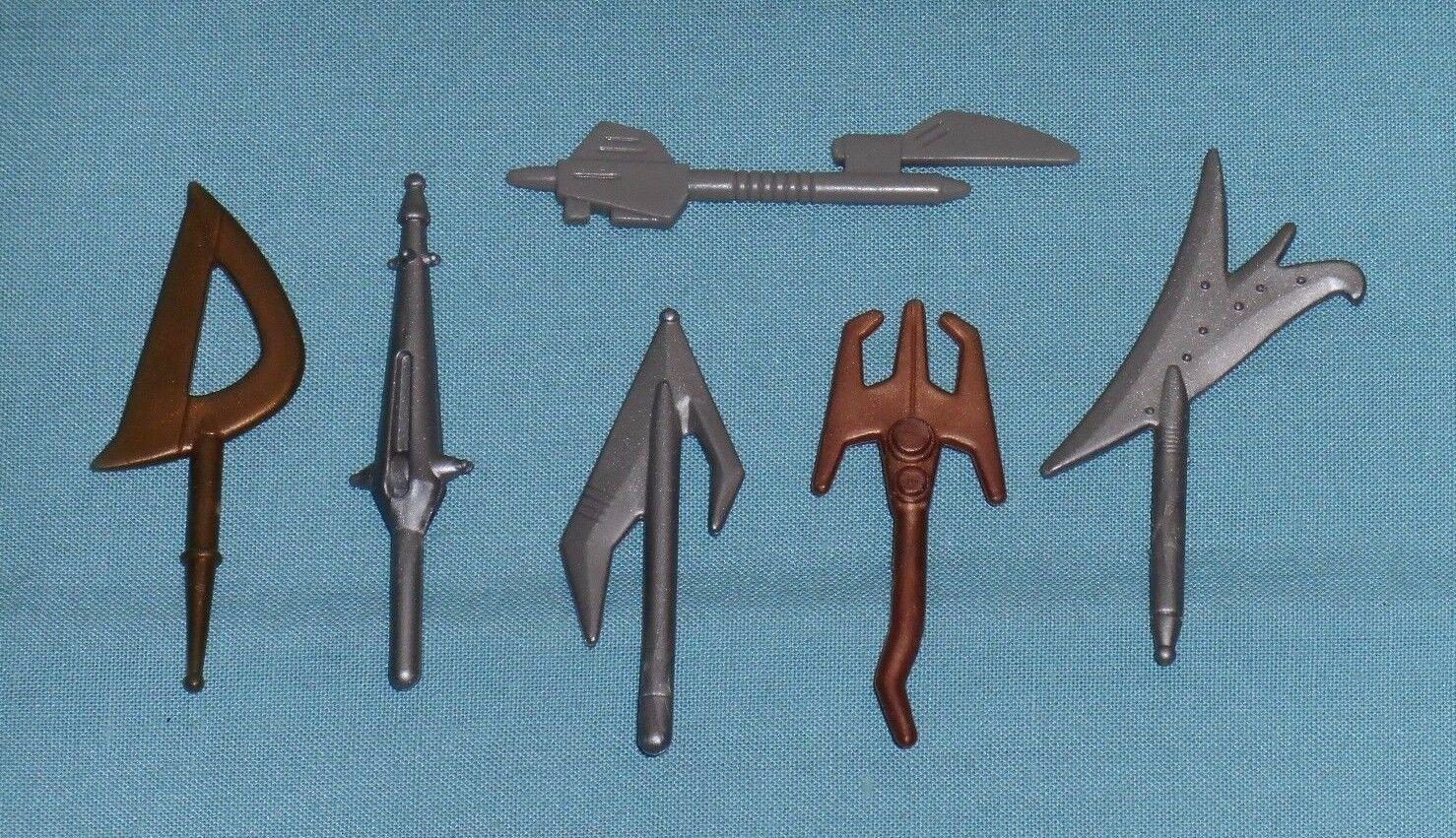 Vintage BATTLE BEASTS WEAPONS LOT x6 parts