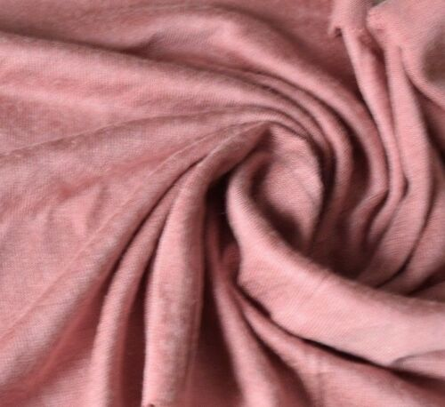 Subtly Shaded Weathered-Look Rayon Knit Dusky Rose