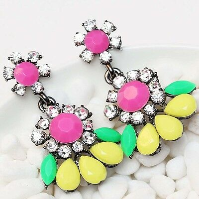 Fashion New design women Elegant bib statement S&W crystal long 38mm Earrings