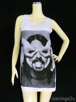 Dave Grohl FOO FIGHTERS Tank Top, Grunge ROCK White Cotton Singlet, Vest T-shirt