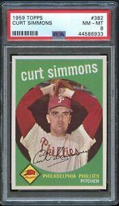 1959-Topps-BB-Card-382-Curt-Simmons-Philadelphia-Phillies-PSA-NM-MT-8