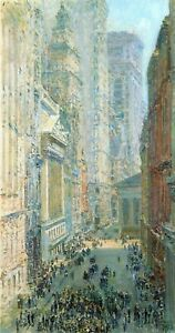 Lower-Manhattan-by-Childe-Hassam-Giclee-Fine-Art-Print-Reproduction-on-Canvas