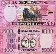 RWANDA 2000 Francs Banknote World Paper Money UNC Currency p40a Africa Gorilla