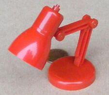 1:12 Scale Moving Red Plastic Working LED Desk Lamp Dolls House Miniature