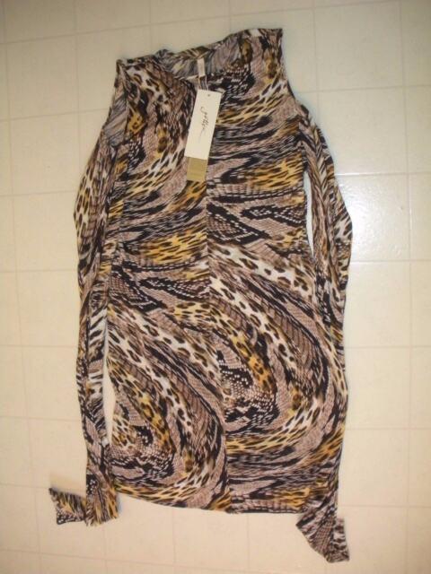 37aaab21f3b5a Gottex Leopard Sahara Sleeveless Swim Beach Dress Coverup Sz Small ...