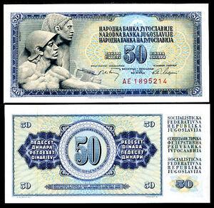 YUGOSLAVIA-50-Dinara-1968-FDS-UNC