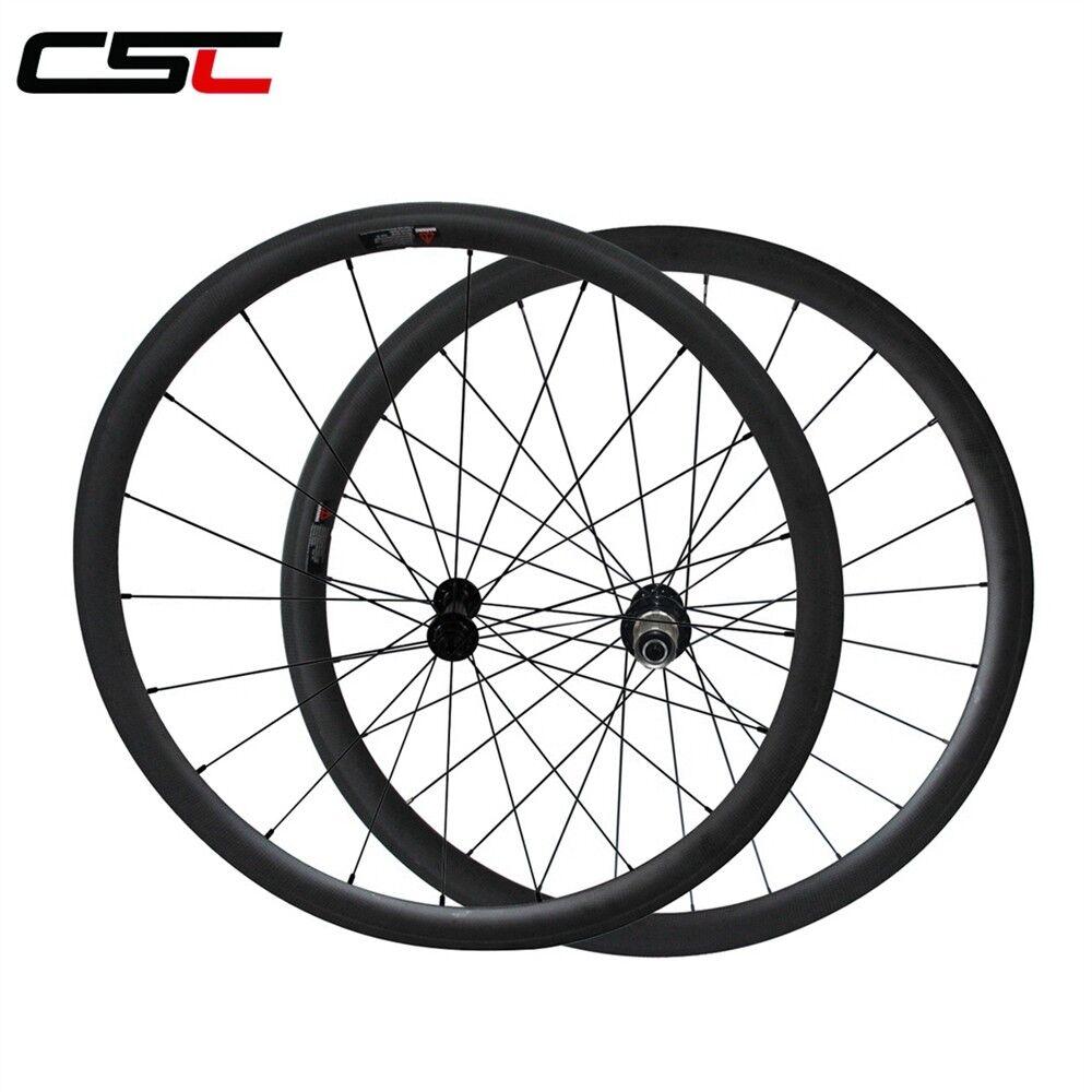CSC Ceramic Bearing Hubs 23mm Width 38mm Tubular Carbon fibre bicycle wheels