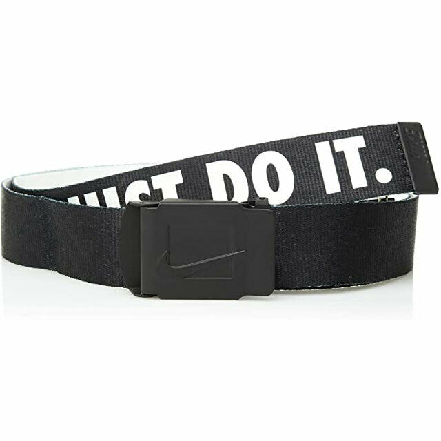 Hueso debate Menos que  Nike Golf Men's Core Reversible Leather Belt 44 Black/white for sale online  | eBay