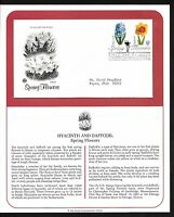 #3900-3903 37c Spring Flowers- Set of 4 on 2 PCS FDCs w/ Info Pages