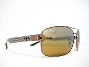 756bb6f783a new RAY BAN RB8318CH 121 A2 Brown Brown Mirror Polarized Chromance ...