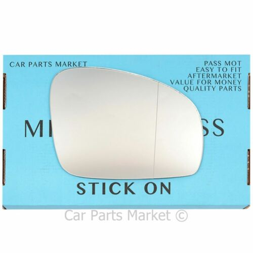 Right Driver side Wide Angle Wing door mirror glass for Skoda Fabia 2007-2014