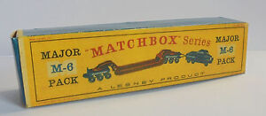 Repro Box Matchbox Major Pack M-6 Pickfords 200 Ton Transporter neuere Box