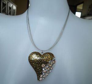 Collier fantaisie strass coeur métal doré léopard panthère gold heart necklace - France - État : Neuf avec étiquettes: Objet neuf, jamais porté, vendu dans l'emballage d'origine (comme la bote ou la pochette d'origine) et/ou avec étiquettes d'origine. ... Sexe: Femme Matire: Faux diamant Type: Collier Genre: fantaisie Sous-type: C - France