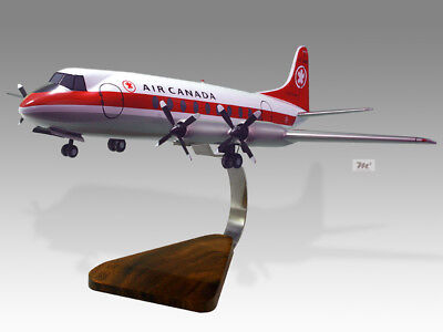 Vickers Viscount Air Canada Wood Desktop Airplane Model Airlines Transportation Collectables
