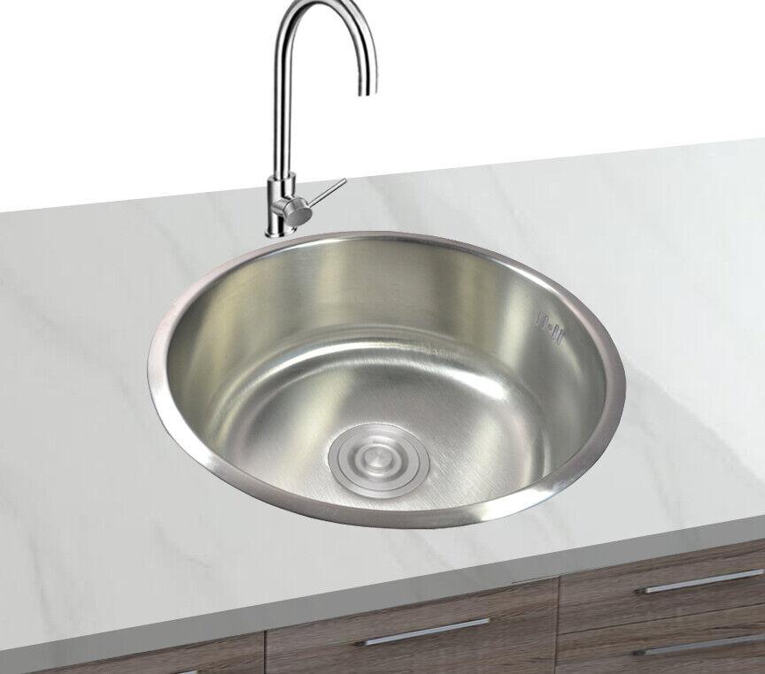 1x Acciaio Inox 304 Lavello Cucina Incasso Rund1 Lavabo Ablagefläche 43x43